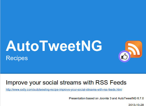 AutoTweetNG Recipe: Improve your social streams with RSS Feeds