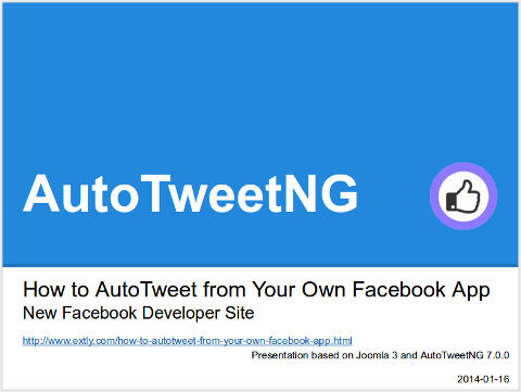How to AutoTweet from Your Own Facebook App - New Facebook Developer Site