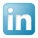 social linkedin box blue 128