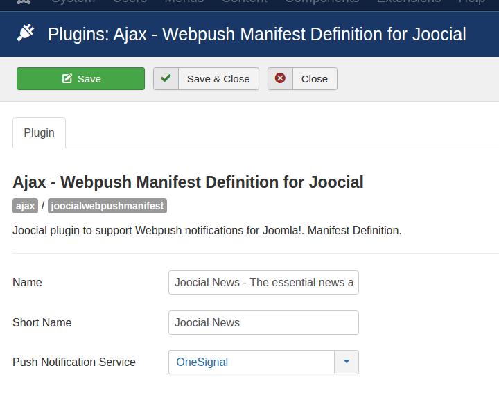 Enable Webpush Manifest Definition